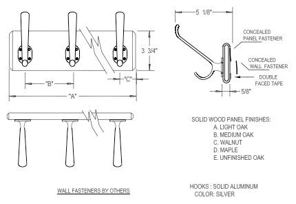 coat hook spacing home design